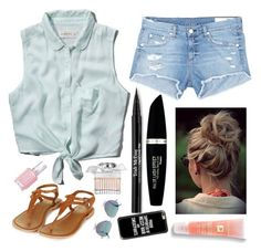 """""""Messy Buns and Sunny Days"""" by barbiecar ❤ liked on Polyvore featuring Abercrombie & Fitch, rag & bone/JEAN, Max Factor, Trish McEvoy, Lancôme, Topshop, Chloé, Essie, Cutler and Gross and Casetify"""