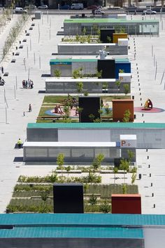 Espacio publico de la Romareda by Estudio Cano Lasso Arquitectos/ The current available space (we got to reconvert into a new urban proposal) is a platform of great magnitude and with enormous potential to catalyze a rich scenario of stay, transit and attracting flows.