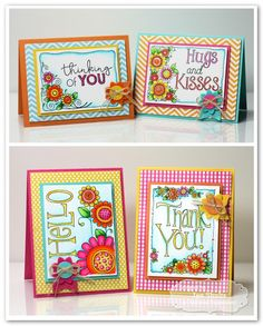 Keep In Touch Card Set by Jen Shults - stamps by Taylored Expressions