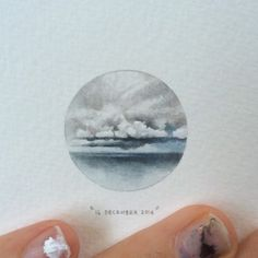 Day 350 : Cabo das Tormentas | Cape of Storms II. ☁️ 28 x 28 mm. #365postcardsforants #wdc624 #miniature #watercolour #capetown #capeofstorms #clouds #rain #winter #paintingsforants (at Cape Town, Western Cape)