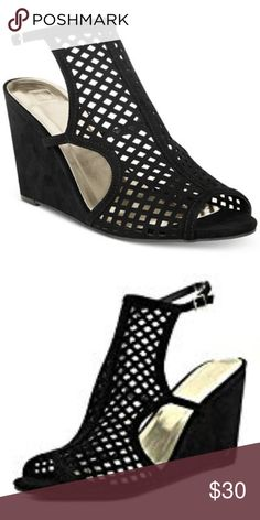 0cb0932605b5 Shop Women s Material Girl Black size Wedges at a discounted price at  Poshmark.