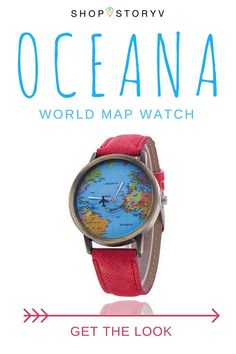 Your undeniable lust for the deep blue has you dreaming of serene beaches around the world, from the crystal clear lagoons of the Philippines to the perfect surf breaks of Hawaii. Treasure your favourite travel moments and spend each day in solace wearing your OCEANA world map watch. Pair with water inspired hand jewellery for the perfect sea travel look!