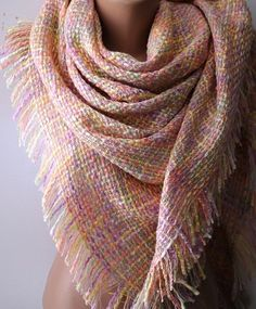 Pink Scarf Winter Scarf Fashion Accessories by ElegantScarfStore