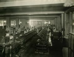 Bindery Division, Pamphlet Binding line, about 1920