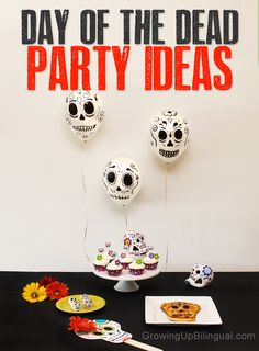 Dia de los Muertos Day of the Dead party ideas, food, decorations and activity ideas for kids #DayoftheDead