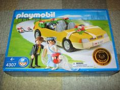 Playmobil Bride and Groom and Wedding Car 4307 New in Box | eBay
