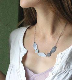 Mesa Shapes Silver Necklace by Elaine B Jewelry on Scoutmob Shoppe