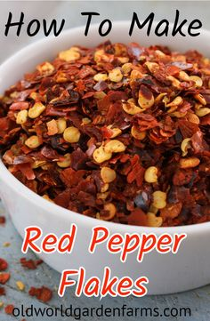 Learn how to make your own Red Pepper Flakes or Red Pepper Powder. #hotpepperflakes #crushedredpepper #pepperplants #hotpeppers #ground pepperpowder #oldworldgardenfarms