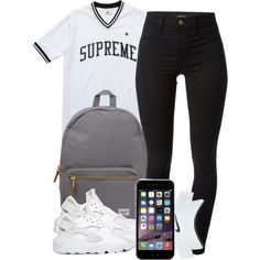 A fashion look from June 2015 featuring Champion tops, J Brand leggings and NIKE athletic shoes. Browse and shop related looks.