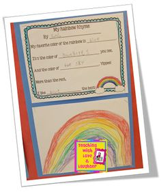 Teaching With Love and Laughter: FREE Rainbow Rhyme