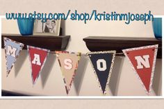 Name Pennant banner  birthday baby shower by kristinmjoseph, $24.00