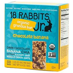 18 Rabbits Jr Organic Gluten Free Granola Bar Chocolate Banana 6Count Box * You can find out more details at the link of the image.