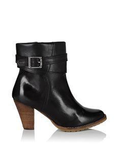 Women's Glory black leather ankle boots by W11 Atelier on secretsales.com