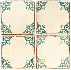 Hand-painted ceramic tiles, Walker Zanger.