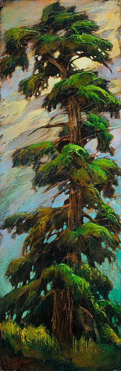 David Langevin - The Wind is Wearing me out! #tree #art