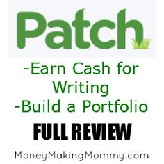 Earn Money and Create a Portfolio with Patch.com
