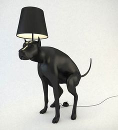 Pooping Dog Lamps from UK artist Whatshisname. Stepping In Dog Poop Turns On The Dog Lights!