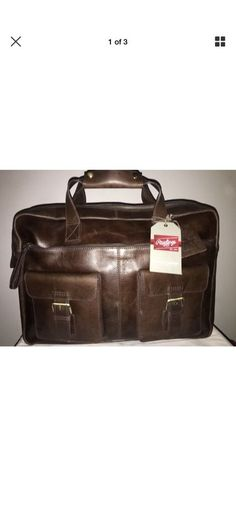 a288ae94a30d Brand New With Tags! Rawlings Rugged Briefcase - Leather Cognac  fashion   clothing