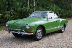 1971 Volkswagen Karmann-Ghia in green.