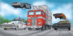 '80s Highway    Back to the Future, Ghostbusters, Optimus Prime, General Lee and Kit