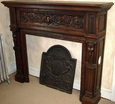 antique fireplace mantels french handcarved wood fireplace mantel