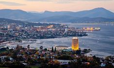 City of Hobart. City of Hobart on the Derwent River. Famous Places, Best Places To Eat, Great Places, Stargazing, Continents, San Francisco Skyline, Travel Destinations, Tourism, Around The Worlds
