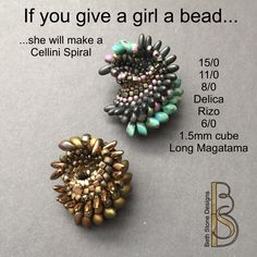 Gentle Waves Necklace - a beadweaving tutorial by Beth Stone - seed bead Cellini Spiral beaded bead by Beth Stone on Etsy Seed Bead Bracelets Tutorials, Beaded Bracelets Tutorial, Beading Tutorials, Necklace Tutorial, Seed Bead Necklace, Seed Bead Jewelry, Seed Beads, Bead Earrings, Beading Patterns Free