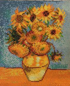 Van Gogh Sunflowers Cross Stitch