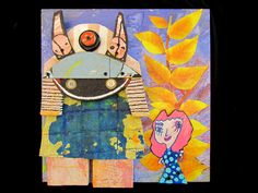 """""""Samuri and Betty""""  By Goodwill Art Studio & Gallery artists, Tim Adkins, Connie May, Tom Salmans and Connie Schaefer"""