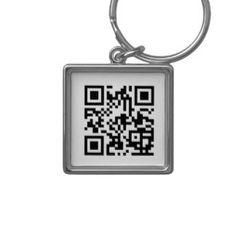 Custom QR Code Keychain - QRCads.com