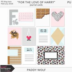 Free For the Love of Harry Journal Cards from Paddy Wolf