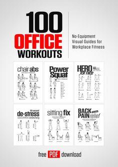 100 Office Workouts by DAREBEE   #darebee #office #fitness