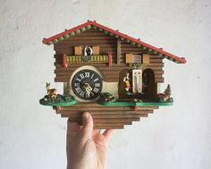 Hey, I found this really awesome Etsy listing at https://www.etsy.com/listing/205260618/vintage-cuckoo-clock-1960-french-alpine