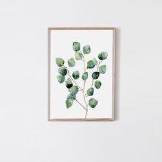 Eukaliptus akwarela - plakat Lemon Ducky