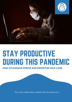 Learning how to manage stress is important to ensure productivity during a pandemic. Here are some facts and ways to control stress: Take Care Of Yourself, Improve Yourself, Prioritize, Stress Management, Self Care, Productivity, Relationships, Students, Facts