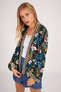 Order now for fast delivery on trend-led women's coats & jackets from Joy the Store. Auburn, Joy The Store, Spring Jackets, Winter Wardrobe, Pineapple, Kimono Top, Jackets For Women, Coat, Shopping