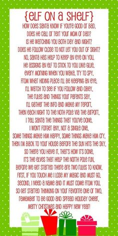 elf on a shelf letters to kids  | Elf on a shelf intro letter | Elf on A Shelf