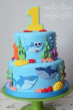 Awesome Image of Shark Birthday Cake . Shark Birthday Cake Ba Shark Cake K N. Awesome Image of Shark Birthday Cake . Shark Birthday Cake Ba Shark Cake K Noelle Cakes Cakes K Shark Birthday Cakes, Boys First Birthday Cake, Boy Birthday Parties, Birthday Ideas, Card Birthday, Birthday Greetings, Happy Birthday, 1st Bday Cake, Shark Cake