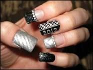 pictures of black nail design - Google Search