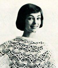 Women's Vintage Hairpin Lace Stole -- Crochet -- PDF
