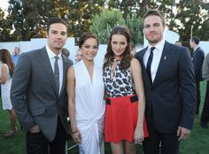 Jay Ryan, Kristin Kreuk, Stephen Amell - CW, CBS And Showtime 2012 Summer TCA Party - Inside