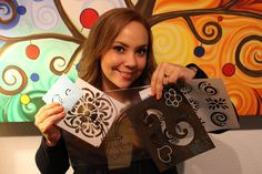 Como hacer tus propios stencils o Plantillas / Make your own stencils. Puedes usar radiografias, que buena idea!