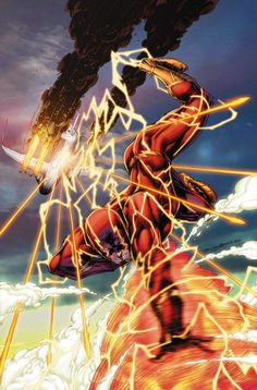 THE FLASH #26  Written by CHRISTOS N. GAGE  Art by NEIL GOOGE  Cover by BRETT BOOTH and NORM RAPMUND  On sale DECEMBER 31 • 32 pg, FC, $2.99 US • RATED T  In this special standalone story, The Flash loses someone important to him. To catch the villain responsible, The Flash must figure out how to use his powers in the one place where they do him little good: the sky!