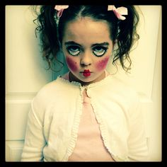 Image result for scary doll diy costume