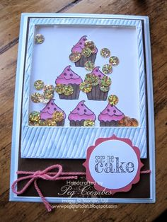 Cup Cake Birthday Shaker Card - Stampin' Up!