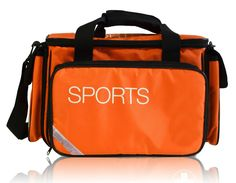 New Padded Medical Physio Sports Bag in Hi Viz Orange/Black & Reflectors #Unbranded