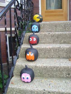 Pac Man Pumpkins Patricks idea family project Pac Man Pumpkins Patricks idea family project The post Pac Man Pumpkins Patricks idea family project appeared first on Halloween Pumpkins. Halloween Porch, Halloween Crafts For Kids, Halloween Home Decor, Diy Halloween Decorations, Spooky Halloween, Holidays Halloween, Baby Halloween, Halloween Pumpkins, Pumpkin Decorating Contest