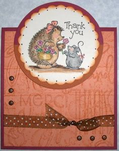 hedgie thanks Stampin Up Hedgehog Happiness