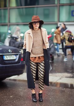 #ValentinaDiPinto and that entire outfit in Milan. fab. #MFW