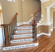 Movie Quotes Assorted Stair or Wall Decor